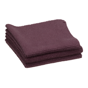 Abwaschlappen  27x27 cm 3er-Set purple ZONE